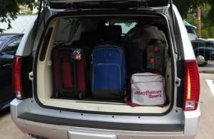 The roomy Escalade trunk