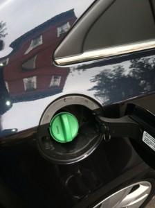 The green fuel cap