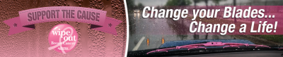 AutoTex pink blades let you show your support for breast cancer