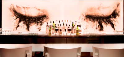 The bar at the SLS illustrates the brand's whimsy