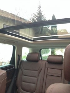 The panoramic sun roof and lots of windows give the interior a spacious, airy feeling