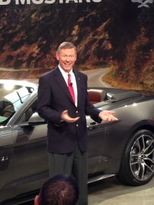 Ford CEO Alan Mulally introduces the 2015 Mustang