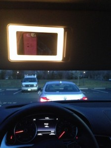 Hollywood lighting for the road: Maybe the Touareg's best feature?