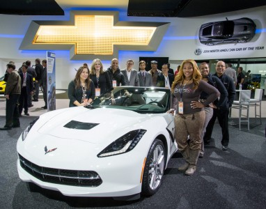 GM Diversity group with the Chevrolet Corvette Stingray
