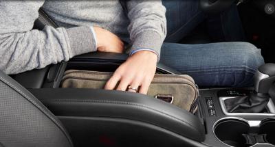 Toyota Highlander's handbag storage console