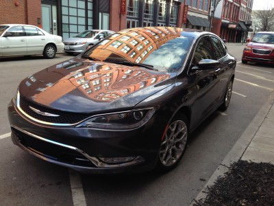 The Chrysler 200 looks pretty on the streets of Louisville.