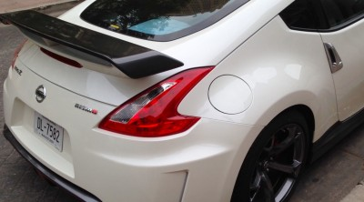 The 370Z NISMO's rear spoiler distinguishes it from the rest of the 370Z line.