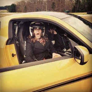 Riding on the Hot Track in Ford Mustang