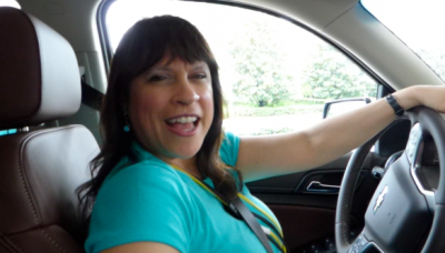 Fran Capo in the 2014 Chevy Suburban