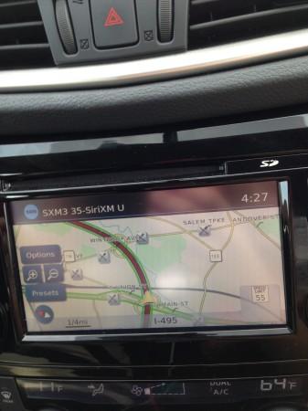 Nissan Rogue navigation screen