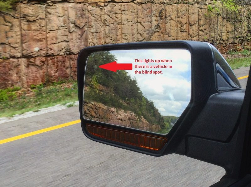 2016 Ford Expedition side mirror and BLIS