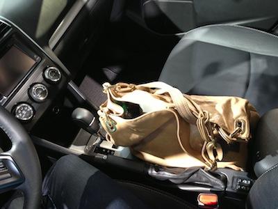 Subaru XV handbag space